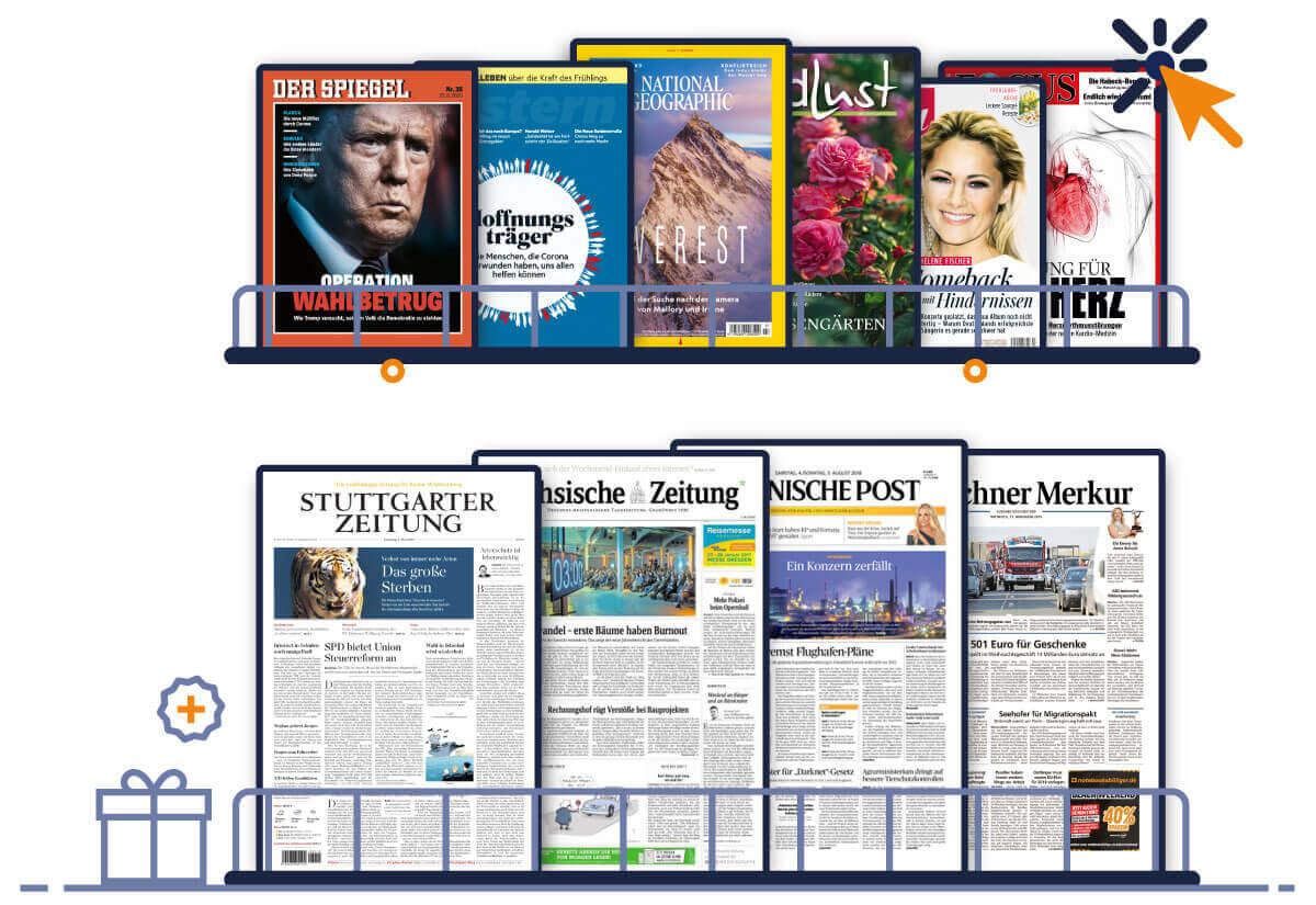Collage aus Zeitschriften, Zeitungen und Illustrationen