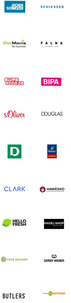 Logos unserer Partner in der mobilen Ansicht